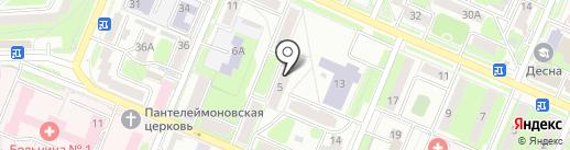 Брянская салютная компания на карте Брянска