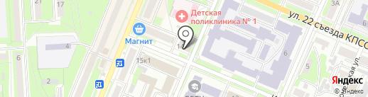 Косые височки на карте Брянска