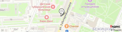 Комитет инвалидов Нового городка на карте Брянска