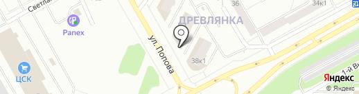Этуаль на карте Петрозаводска