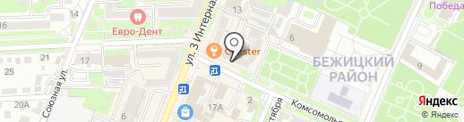 Нотариус Евдокименко Н.М. на карте Брянска