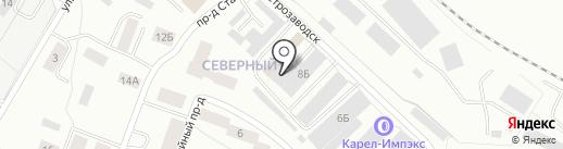 Лунда на карте Петрозаводска
