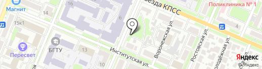 Веселый цветочник на карте Брянска