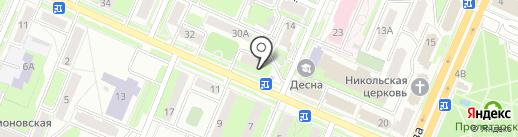Магазин товаров для рыбалки и туризма на карте Брянска