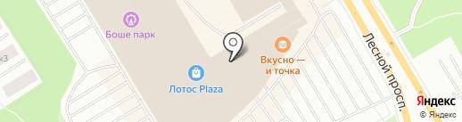 Феникс на карте Петрозаводска