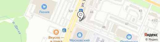 Русский фейерверк на карте Брянска