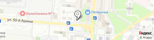 Лорис на карте Брянска