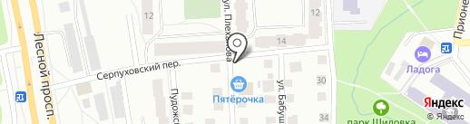 Киоск по продаже овощей и фруктов на карте Петрозаводска