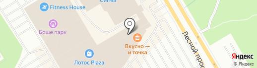 Золотое сердце на карте Петрозаводска