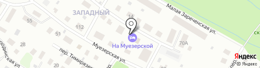 Гостевой Дом на Муезерской на карте Петрозаводска