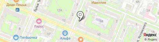 Нотариус Борисова И.П. на карте Брянска