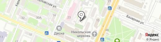 РУ1 на карте Брянска