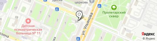 Варенька на карте Брянска