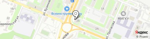 География на карте Брянска