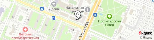 Жу-Жу на карте Брянска