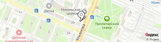 Андромеда на карте Брянска