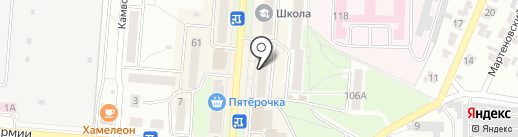 Семерочка на карте Брянска
