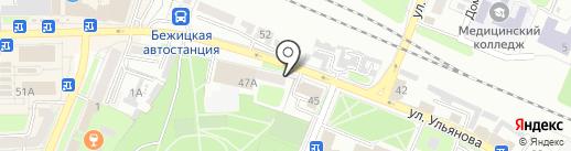 Манифик на карте Брянска
