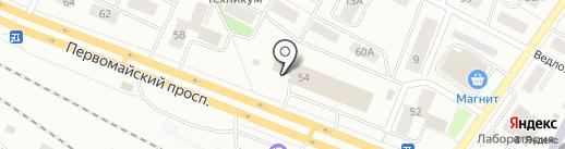 Трио на карте Петрозаводска