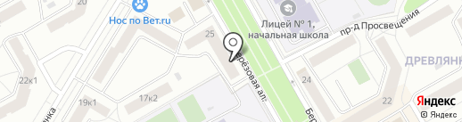 Бочонок на карте Петрозаводска