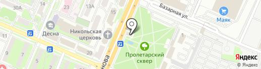 Каскад на карте Брянска
