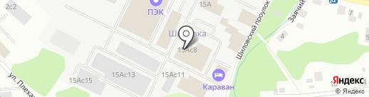 Армада на карте Петрозаводска