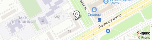 Суши-шоп на карте Петрозаводска