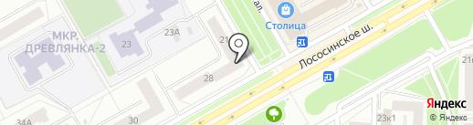Банкомат, Восточный экспресс банк, ПАО на карте Петрозаводска