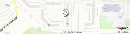 Древлянский-4 на карте Петрозаводска