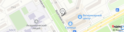 Киоск по продаже хлебобулочных изделий на карте Петрозаводска