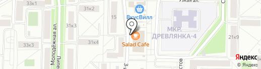 Salad cafe на карте Петрозаводска