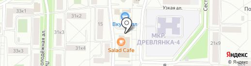 Сеть киосков по продаже свежей выпечки на карте Петрозаводска