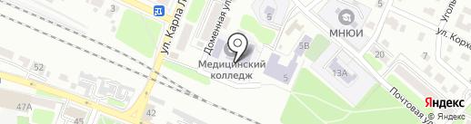 Брянский базовый медицинский колледж на карте Брянска