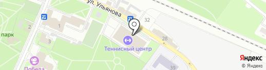 Легкоатлетический комплекс, ГАУ на карте Брянска