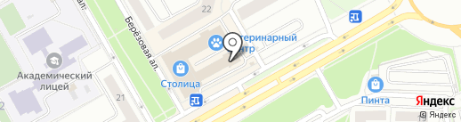 Магазин канцелярских товаров на карте Петрозаводска