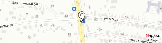 Городищенский поворот, продуктовый магазин на карте Брянска