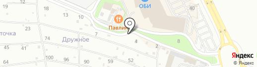 Павлин на карте Брянска