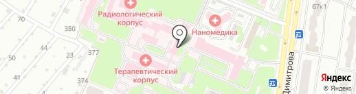 Брянский областной онкологический диспансер на карте Брянска