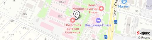Детская областная больница на карте Брянска
