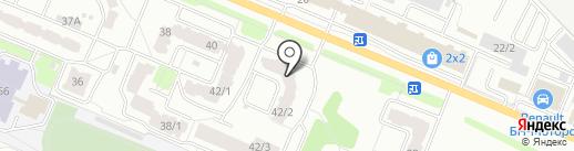 Красное & Белое на карте Брянска