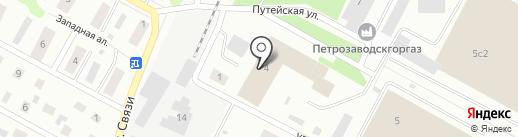 Отряд технической службы ФПС по Республике Карелия на карте Петрозаводска