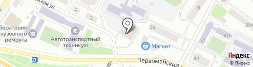 Галс на карте Петрозаводска