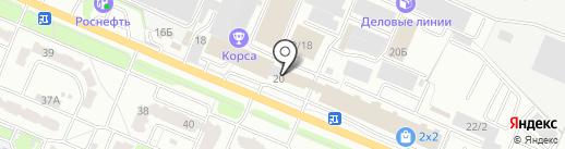 Контур на карте Брянска