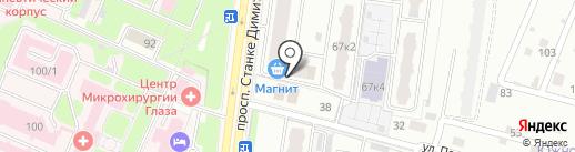 Наташа на карте Брянска