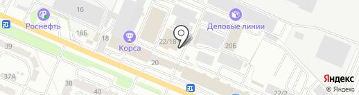 Быстрорез на карте Брянска