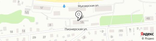 Мира Парк на карте Петрозаводска