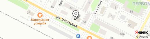 Калевала на карте Петрозаводска