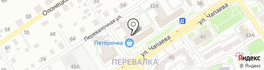 Компания по продаже прицепов на карте Петрозаводска