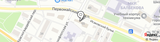 Петрозаводский линейный отдел МВД России на транспорте на карте Петрозаводска
