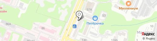 Магазин аккумуляторов и автозапчастей на карте Брянска